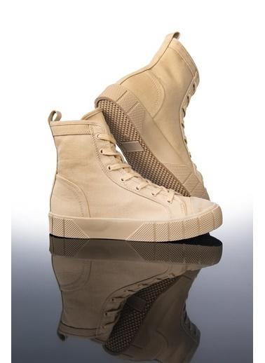 Letoon Ltn2021 Yüksek Bıleklı Spor Ayakkabı Bej